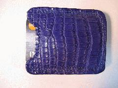 Desert Cobalt Blue Alligatrix Money Clip Front - Web.JPG